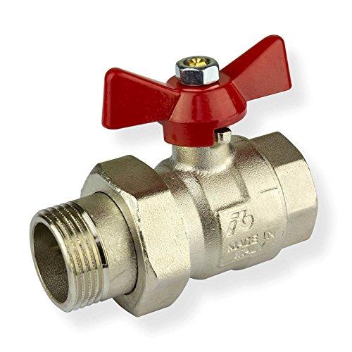 Stabilo-Sanitaer Kugelhahn 1/2 Zoll DN15 mit Flügelgriff für Wasser Messing Kugelventil Absperrventil Heizung Absperrhahn