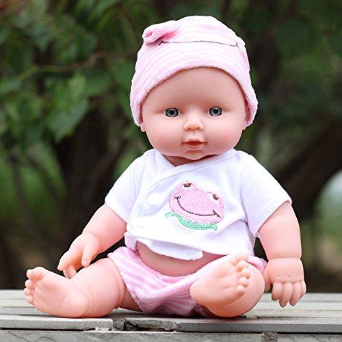 sunnymi  Babypuppen, Baby Emulated Puppe Weiche Kinder Reborn Baby Doll Spielzeug Jungen Mädchen Geburtstagsgeschenk (Rosa)