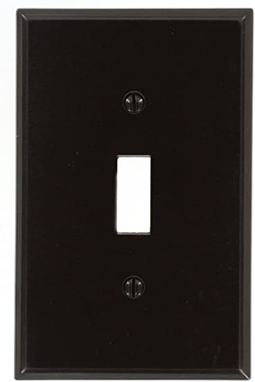 Leviton 80501 1 Gang Toggle Device Switch Wallplate Midway Size Brown Amazon Ca Tools Home Improvement