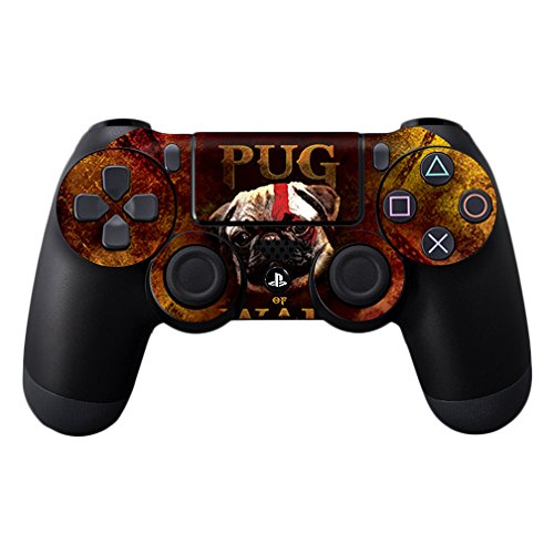 MightySkins Skin Compatible with Sony PS4 Controller - Pug of War   Protective, Durable, and Unique Vinyl Decal wrap Cover   Easy to Apply, Remove, and Change Styles   Made in The USA