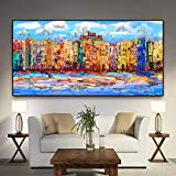 n / a acquerello astratto città nordica poster e stampe su tela wall art soggiorno pittura pittura frameless 40cmx80cm