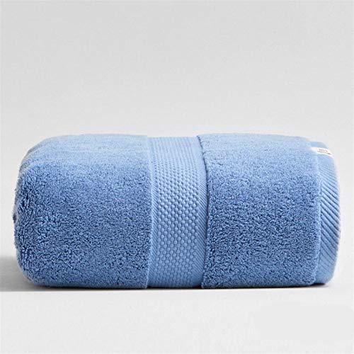 LIGUANGWEN 80 * 160 Cm 800g Toallas De Baño De Algodón Espesado De Lujo para Adultos Baño De La Toalla De Playa Baño Extra Grande Sauna para Hogar Hoja Hojas Toallas (Color : Blue)
