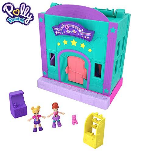 Polly Pocket Salón recreativo de juguete, mini muñecas con accesorios (Mattel GFP41)