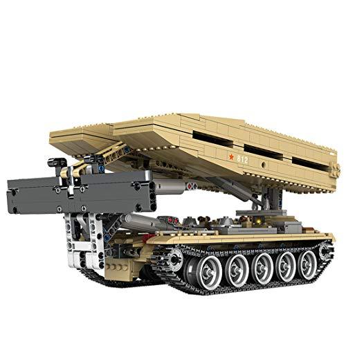 PEXL Juego de construcción de tanques, bloques de construcción, modelo militar, maqueta de tanque 1155 bloques de construcción compatibles con la técnica Lego.