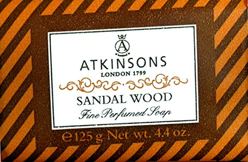 6 x ATKINSONS Saponetta Sandal Wood 125 GR