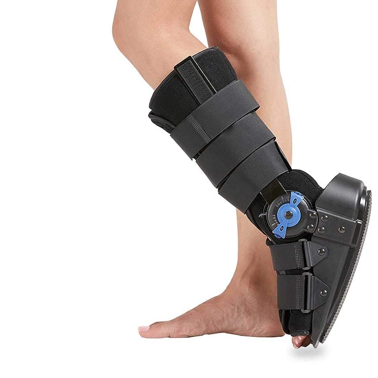 上昇汗せっかち足の装具、足首サポートブレース調整可能なチャック付き足首関節固定装具 足首の捻rainと骨折の修復に適しています,L