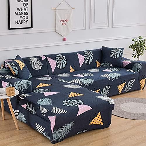 ASCV Fundas de sofá elásticas para Sala de Estar Funda de sofá elástica para sillón Funda para sofá Chaise Lounge A7 2 plazas
