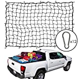 4' x 6' Bungee Cargo Net, Pick Up Truck Bed Cover, 5mm Thick Cord, Spider...