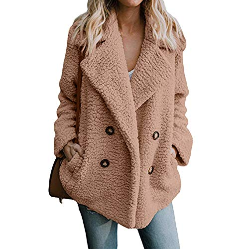LoveLeiter Damen Casual Jacke Winter Warm Parka Outwear Mantel Frauen Fuzzy Faux Pelz Langarm...