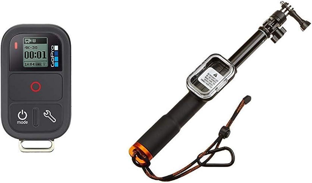 GoPro Smart Remote - Mando a Distancia para videocámaras GoPro Hero + AmazonBasics - Brazo alargador Remoto para GoPro