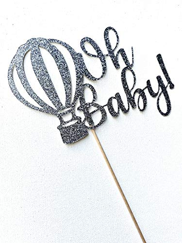 Oh Baby Cake Topper, Hot Air Balloon Baby Douche, Hot Air Balloon Cake Topper