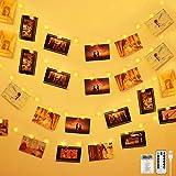 Anpro 110 LED Fotoclips Lichterkette Photoclips 11M, 3 Beleuchtungsmodi für Foto Bilder Karten, Warmweiß