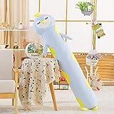 YAYIOU Stofftier zylindrische Kissen Puppe Plüschtier Puppe Lange Kissen Puppe niedlich niedlich schlafen abnehmbare Mädchen-Pinguin_1.7 Meter