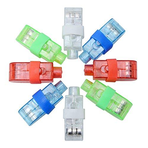 Syolee LED Finger Lights 20pcs Super Bright Finger Flashlight Ideal for Toys Party Favor Supplies