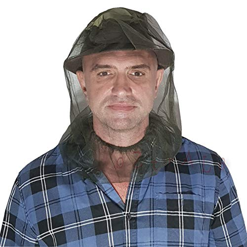 Oztrala Head NET Screen Fly Insect Bug Bush Fishing Mosquito Mozzie Bee Outback Hat Mesh US Dark Olive