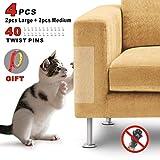Idepet 4PIEZAS Gato Protector de arañazos para muebles con 40...
