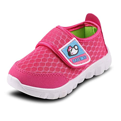 Baby Sneaker Shoes for Girls Boy Kids Breathable Mesh Light Weight Athletic Running Walking Casual Shoes(3-4 M Toddler,Pink)