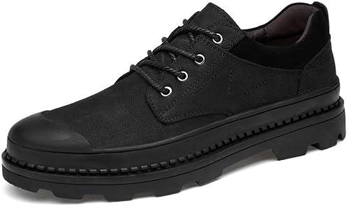 WHL.LL Pour des hommes Garder au chaud Imperméable Antidérapant Chaussures décontractées Cravate devant Bouche peu profonde Résistant à l'usure Chaussures simples