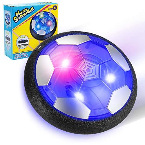 EXTSUD Balón Fútbol Flotante, Pelota de Air Fútbol con Protectores de Espuma Suave y Luces LED, Juguete Deportivo para Niños de 3-12 Años ⭐
