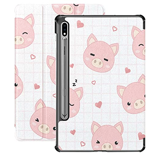 Cute Pig Pink Pet Animal Toys Funda para Samsung Galaxy S7 para Samsung Galaxy Tab S7 / s7 Plus Funda Galaxy Tab S7 Funda Trasera con Soporte Funda Galaxy S7 Plus para Galaxy Tab S7 11 pulg