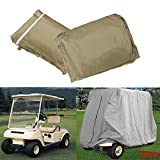 C-FUNN 2 Copertura Passeggeri Tortora Protezione Contro Pioggia Sole per Golf Cart Yamaha...