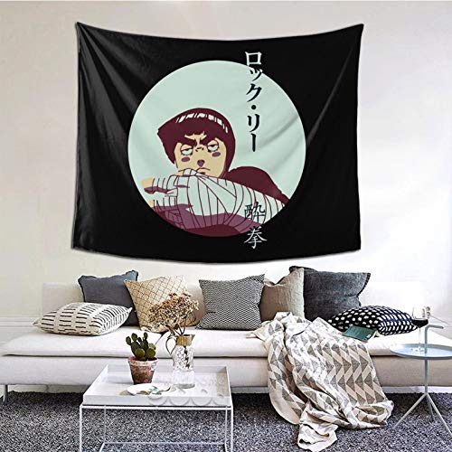Rock Lee Drun-Ken Fist NAR-Uto Tapestry Wall Hanging Blanket 3D Print Poster Art for Living Room Decorations (60 X 51 Inch)