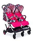 Cosatto Woosh Double Stroller – Lightweight Pushchair From Birth to 15kg, Twins or Siblings   One-hand Fold, Compact, Independent Seats (Unicorn Land)
