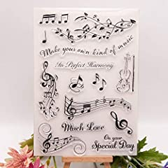 KWELLAM Musical Note in Perfect Harmony Much Love Special Day Clear Stamps for Card Making Decoration and DIY Scrapbooking #2