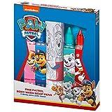 KTN Paw Patrol Seifenstifte Set 4 Seifenstifte und EIN Handtuch zum Ausmalen - Badewannenstifte als Geschenkset