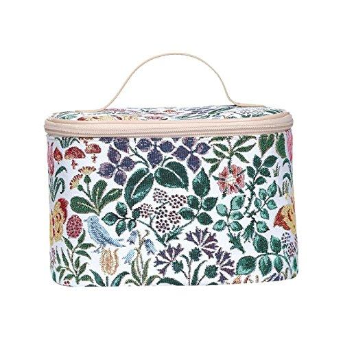Signare - Neceser de tapicería para mujer, diseño de flores y criaturas Flor de primavera talla única