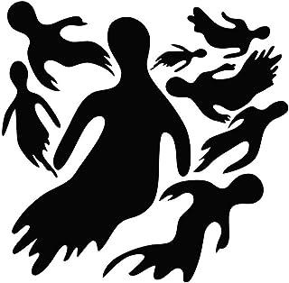 Toyvian Etiquetas de la Ventana de la Etiqueta engomada de la Pared Fantasma para Decoraciones de Halloween Party Supplies