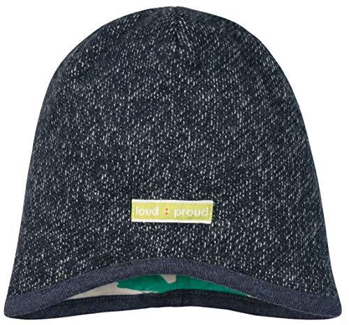loud + proud Jungen Melangestrick Aus Bio Baumwolle, GOTS Zertifiziert Mütze, Blau...