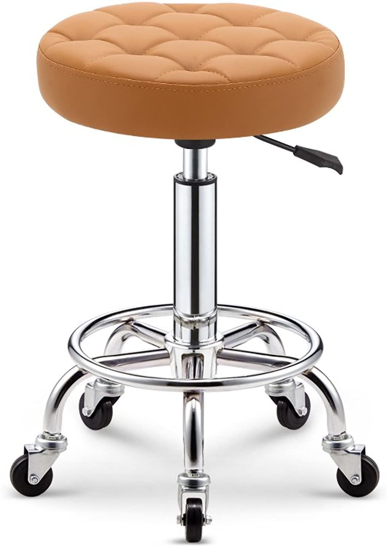 Mesurn Simple Lattice Bar Chair Spa Salon Chair Massager Manicurist Stool (color   Yellow)