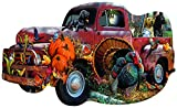 """Harvest Truck 1000 pc Special Shaped Jigsaw Puzzle by SUNSOUT INC 1000 pc Special Shaped Jigsaw Puzzle - Completed size: 20.875 x 34.5"""" Puzzle Artist: Jerry Gadamus & Cynthia Fisher Eco-Friendly - Soy-Based Inks - Recycled Board - Made in the USA Int..."""