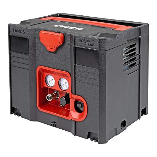 STIER Systainer Kompressor SKT 160-8-6, ölfrei, 1.100 W Motorleistung, SysMaster kombinierbar mit anderen Systainern, Druckluft, Mobiler Kompressor