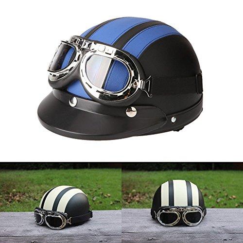 ViZe Cascos Moto Perno Medio Casco Abierto Motocicleta Unisex Protección Motocicleta Con...
