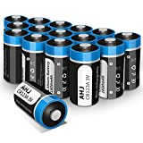 CR123A Lithium Batteries, 16 Pack 3V 1600mAh CR123 CR17345 Battery with 10-Year Shelf Life UL Certification for Flashlight Toys Alarm System Microphones [Non-Rechargeable, NOT for Arlo]