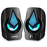 Computer Speakers ELEGIANT PC Speakers 2.0 USB Powered Stereo Volume Control with LED
