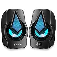ELEGIANT Altavoces PC, Altavoz 2.0 USB 10W Gaming de Ordenador Sobremesa para...