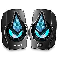 ♫ 【Haut-parleurs stéréo avec belle qualité sonore】: Avec 2 * 5 watts doubles haut-parleurs, ils sont compacts mais puissants. Ils fournissent des son stéréo net et équilibré, et vous pouvez également profiter d'une belle qualité sonore audio sans per...