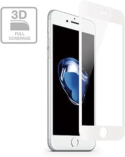マンティファン multifun 3D全面強化ガラスフィルム iPhone 7Plus 5.5インチ 用  アンチスクラッチスクリーンプロテクトフィルム 硬度9H強化液晶保護フィルム (iPhone 7 Plus, 白)