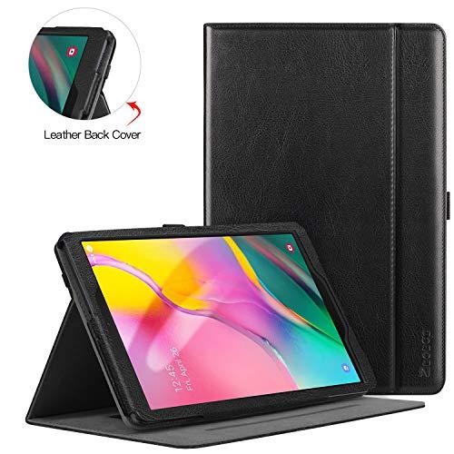 ZtotopCase Hülle für Samsung Galaxy Tab A 10,1 2019, für Modell SM-T510/SM-T515, Premium Leder Geschäftshülle mit Ständer, Kartensteckplatz und Mehrfachwinkel,Schwarz, Black