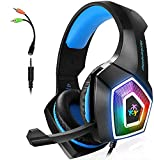 Gaming Headset with Mic for Xbox One PS4 PS5...