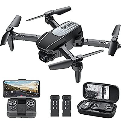 WiFi FPV Drone with 1080P HD Camera, Melusenn 120° Wide-Angle Live Video RC Quadcopter with Altitude Hold, Gravity Sensor Function, Altitude Hold, Waypoints Functions, 3D Flip RTF 2 Batteries