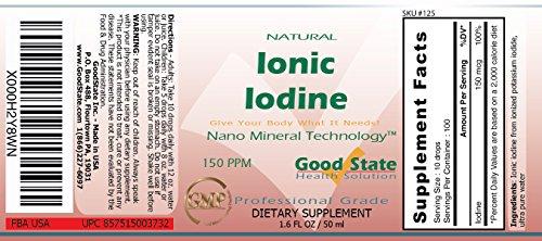 Good State - Iodio ionico liquido ultra concentrato - (10 gocce danno 150 mcg) (100 dosi a bottiglia)