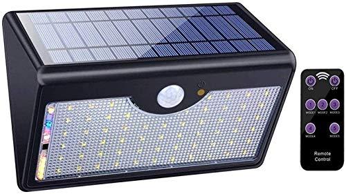 Jardín Patio Garaje Piscina Luces de Seguridad Sensor de Movimiento Reflector de Seguridad Solar al Aire Libre con 5 Modos inteligentesApliques de Exterior