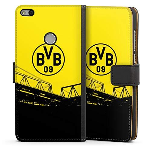 Sideflip compatibel met Huawei P8 Lite 2017 Bookcase Flipcase Borussia Dortmund BVB Fanartikel