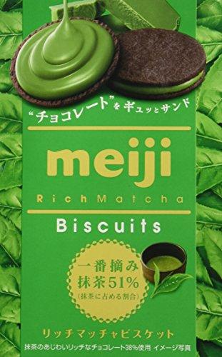 Original japanisches Gebäck, Matcha Geschmack, Meiji, Biscuit, 99g