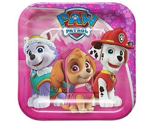 Amscan International 541665 Paw Patrol papieren bord, 18 cm