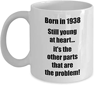 81st Birthday Gifts for Women Men Happy 81 year old 11 oz coffee mug tea cup Born in 1938 Vintage Cheers to Made Since Grandmother Grandfather
